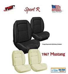 Sport R Seat Upholstery And Sport Foam F/r For 1967 Mustang Convertible, Usa Made