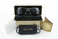 VALENTINO 5566S 6LBR0 45TH ANNIVERSARY LTD ED SILVER DIAMOND AVIATOR SUNGLASS