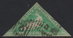 Cape Of Good Hope 1863 1sh Emerald-green Sg 21 - 650gbp Used. Scarce And Rare