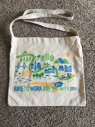 Bike To Work Day Cotton Tote Bag $9.99