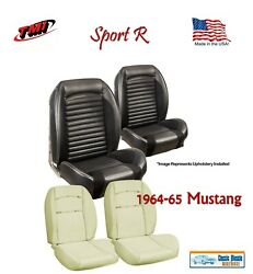Sport R Seat Upholstery And Sport Foam F/r For 1964-65 Mustang Coupe, Made In Usa