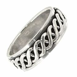 Sterling Silver Jewellery Unisex Celtic Ring With Sailorand039s Knot Stress Or Sp...