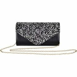 Clutch Purses For Women Evening Bag Cross Body Bridal Party Envelope Handbags $25.96
