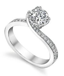 0.16 Carat Semi Mount Diamond Rings Solid 950 Platinum Ring All Size Available