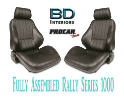 Full Seats 80-1000-51 Reclining Black Vinyl For 1997 - 2004 Ford Crown Victoria