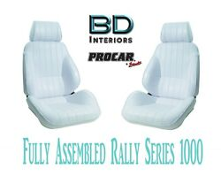Full Seats 80-1000-53 Reclining White Vinyl For 1997 - 2004 Ford Crown Victoria