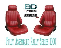Full Seats 80-1000-58 Reclining Red Vinyl For 1997 - 2004 Ford Crown Victoria
