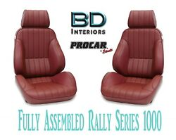 Full Seats 80-1000-56 Reclining Maroon Vinyl For 1997 - 2004 Ford Crown Victoria