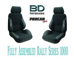 Full Seats 80-1000-71 Black Velour And Vinyl For 1997 - 2004 Ford Crown Victoria