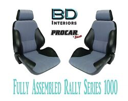 Full Seats 80-1000-73 Gray Velour And Black For 1997 - 2004 Ford Crown Victoria