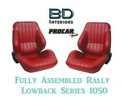 Full Seats 80-1050-58 Lowback Red Vinyl Seats For 1997 - 2004 Crown Victoria