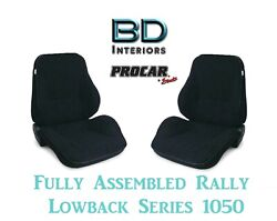 Full Seats 80-1050-58 Lowback Black Velour Seats For 1997 - 2004 Crown Victoria