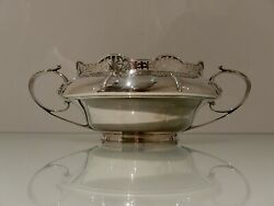20th Cent Antique George V Sterling Silver Flower Bowl Sheff 1926 Walker And Hall