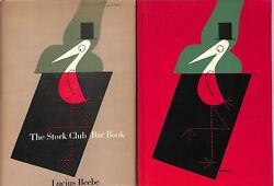 The Stork Club Bar Book 1946 W/ Sherman Billingsley Card And Book Marks Laid-in