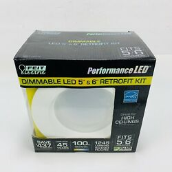 Feit Recessed Can Lighting - 100w Replacement Led Fits 5andrdquo/6andrdquo New Open Box