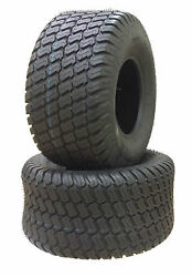 Two 16x6.50-8 16x650-8 16/6.50-8 Lawn Mower Tractor Turf Tires Heavy Duty P332