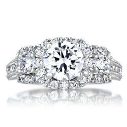 1.40 Ct Real Diamond Round Cut Womenand039s Engagement Ring 950 Platinum Size 6 7 8 9