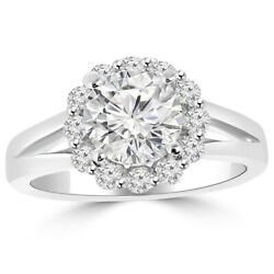 Real 1.20 Ct Round Diamond Engagement Ring For Womenand039s 18k White Gold Size 6 7 8