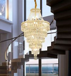 Top Large Chandelier Living Room Pendant Light Led Dimmable Crystal Ceiling Lamp