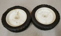2 Used Stens Push Lawn Mower Plastic Wheels, 205-005, Snapper Replacement