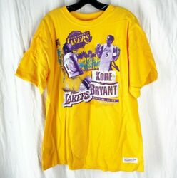 Mitchell And Ness Kobe Bryant Los Angeles Lakers Printed Tshirt Limited Edition Xl