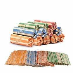440-pack Assorted Wrappers For Coin Sorter Change Counter Machine Money Roller