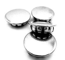 Nickel Plated Steel Round Caps 3/4 Hole Push In Pipe Pole All Weather 3/4 Id