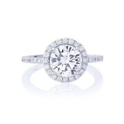 Round 0.84 Ct Real Diamond Wedding Bridal Ring 14k Solid White Gold Size 5 6 7 8