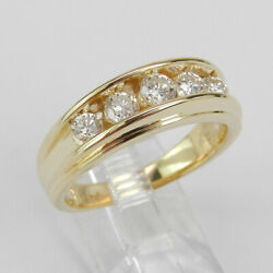 0.50 Ct Round Cut Men's Diamond Ring For Men 14k Solid Yellow Gold Size 10 11 12