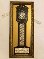 Antique Advertising Thermometer Grandfather Clock Grand Rapids Furniture Ny