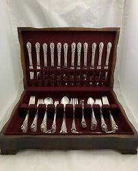 Old Lunt American Victoria Sterling Silver Flatware Set 79 Pieces