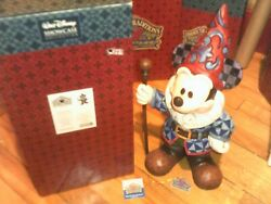Jim Shore Disney Traditions Mickey Mouse Gnome Big Fig Garden Statue Look New