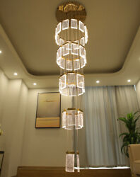 TOP Led bubble crystal lamp Living room villa dining room hall chandelier Light