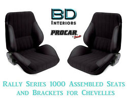 Rally 1050 Series Assembled Seats And Brackets 80-1050-71 For 1964 -1977 Chevelle