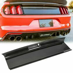 For 15-18 Ford Mustang Gt Carbon Fiber Color Rear Trunk Panel Decklid Trim Cover