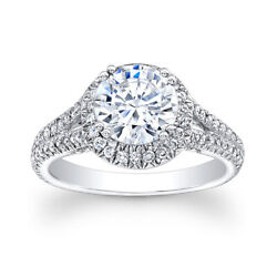 Real 1.20 Ct Round Cut Diamond Engagement Ring 18k Solid White Gold Size 5 6 7 8