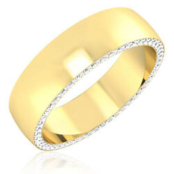 14k Yellow Gold Menand039s Rings 0.68 Ct Natural Diamond Wedding Bands Size 7 8 9