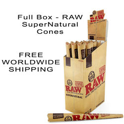 Raw Supernatural Rolling Paper Cone Size 12 Inch - Full Box -