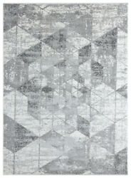 Gray Shaded Diagonals Faded Prisms Contemporary Area Rug Geometric 4525 10272