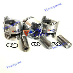 3tnc88 Piston Kit W/ Pin And Clips For Yanmar Engine B37 Excavator Diesel Parts