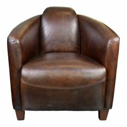 Moeand039s Salzburg Leather Club Chair In Brown
