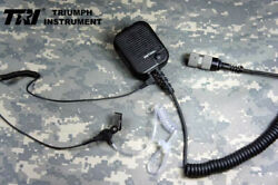 Tri Prc152 Handmic With Air Duct Headset Mbitr Tactical Radio Harris Thales 148