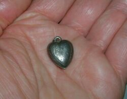 Vintage Collectible Miniature Silver Heart Shaped Pendant