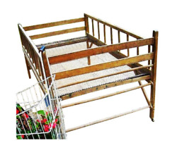 Rare Factory Ideal Toy Co Advertising Victorian Wood Folding Youth Crib Prop