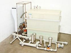 Hdpe Chemical Reservoir Tank Industrial Applications With Liquid Filter Housings