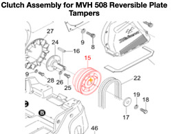 Multiquip Mikasa Clutch Assembly For Mvh508 Reversible Plate Compactor 469352390