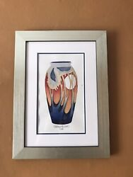 """Moorcroft Original Watercolour """"moon Over Eventide """" By E.bossons .rrp £395"""