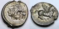 345-300bc Ancient Illyria And Central Greece Akarnania Anaktorion Ar Stater 22mm