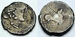 After 229bc Ancient Illyria And Central Greece Corcyra Ar Didrachm - Pegasus