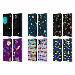 Official Haroulita Space Graphics Leather Book Case For Apple Iphone Phones
